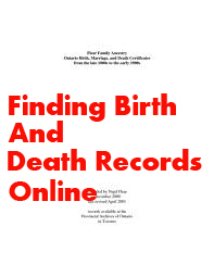 Finding Birth and Death Records Online
