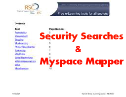 Free Search Tools & Myspace Mapper