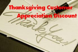 Thanksgiving Customer Appreciation Discount
