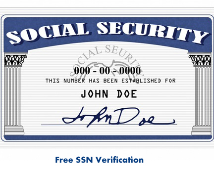 Free SSN Verification