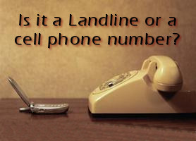 Differentiate Landline and Cell Phone Numbers