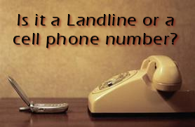 image of a cell phone and a landline phone