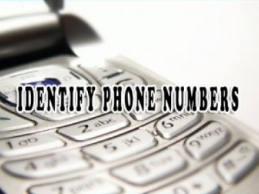 Identify Phone Numbers