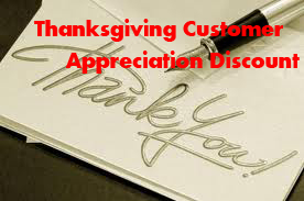 Thanksgiving Customer Appreciation Discount