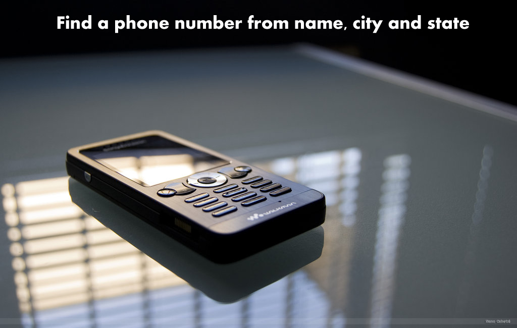 How to find a phone number from name, city, and state.