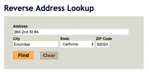 Use a free reverse address lookup tool if you haven't found anything on the web.