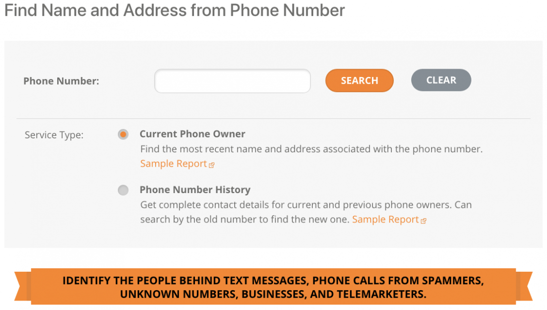 Searchbug Reverse Phone Lookup tool