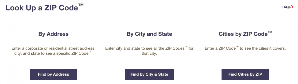 USPS Zip Code lookup helps you verify addresses before you search for them.