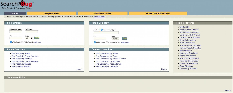 Searchbug.com in 2004.