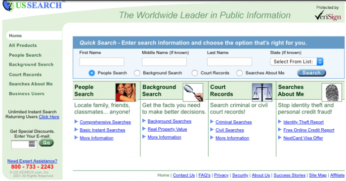 USSearch.com back in the day.