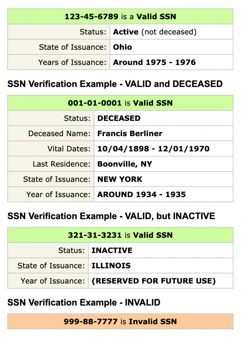 Validate a Social Security Number