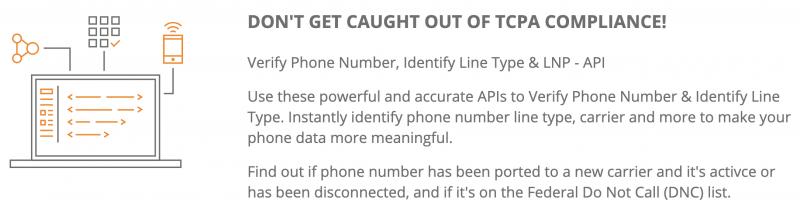 Searchbug phone validator API