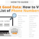 Collect Good Data: How to Verify a List of Phone Numbers