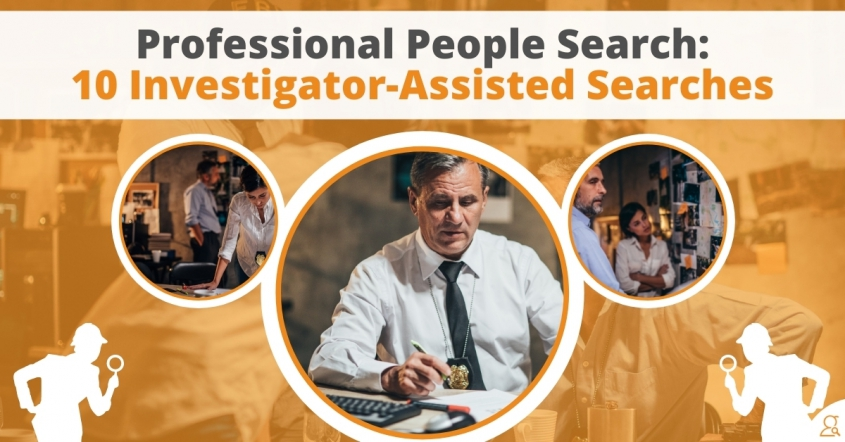 Professional People Search - 10 Investigator Assisted Searches via Searchbug